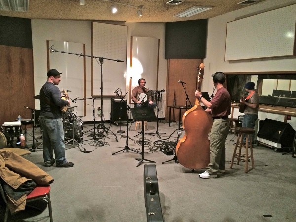 BlueGrass Band live in the studio for Ron Malkemus song