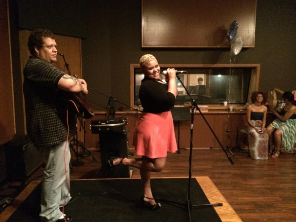 Emily Singing, Jason Sherwood on Guitar
