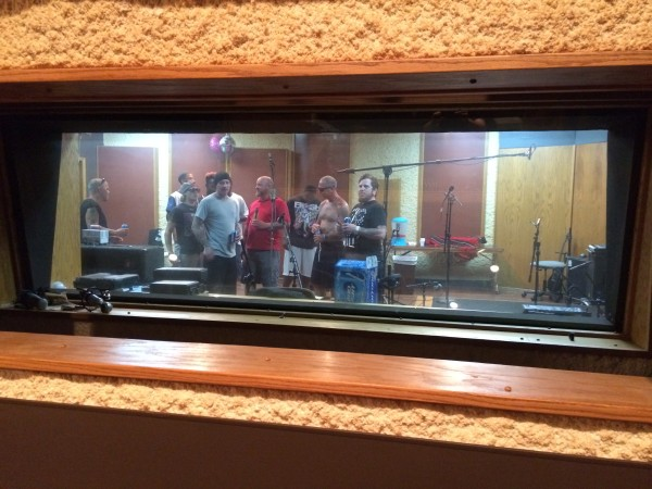 Punks doing group vocals.
