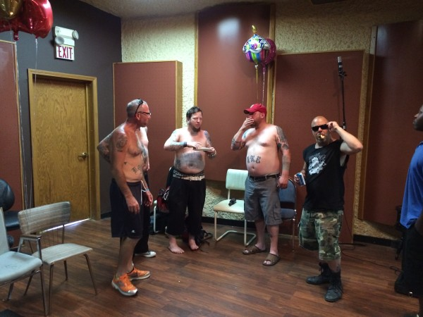 Big D and Carl Herkimer II and Ian Fox and Stephen IRBY BLACKeye. This ain't the beach! Put your shirts on!!!!