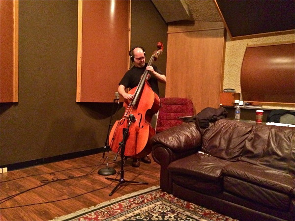 Chris Zielinski - - On upright bass - -SOUNDS great in the control room! - NICE controlled natural sound...