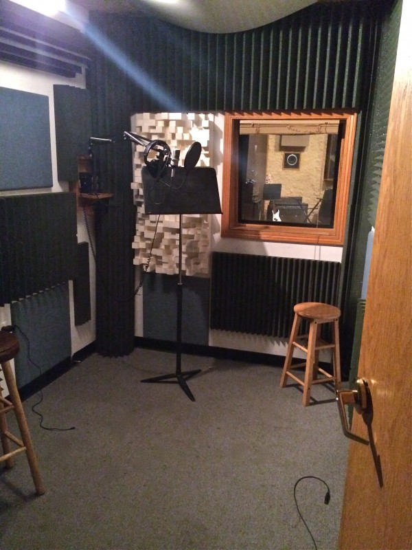 Vocal Booth A - Nice Controlled Sound - Big enough to feel comfortable