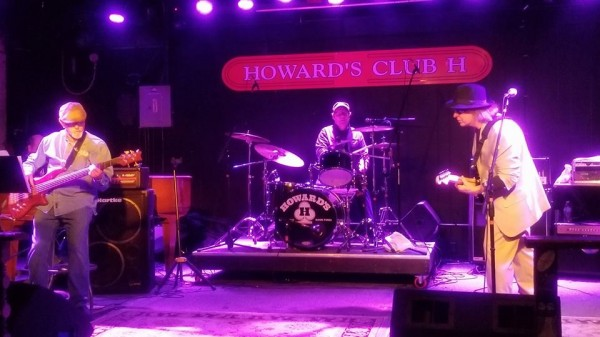 Stoll playing drums with Robin Lee Evans and the Sonic Masters at Howards in Bowling Green, Ohio 2018.